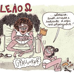 Charge Chiquinha - Leão - Chiquinha
