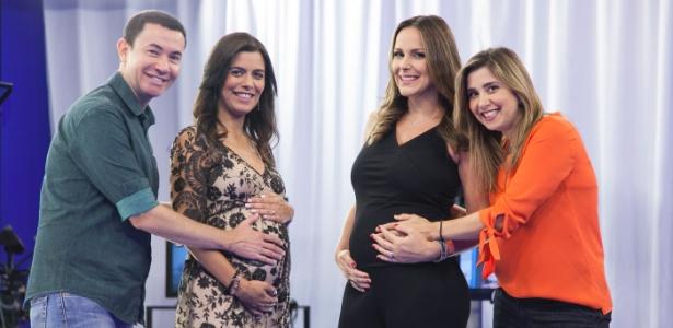 Lucas Pereira, Cláudia Reis, Mylena Ciribelli e Juliana Rios - Edu Moraes/Divulgação/Record