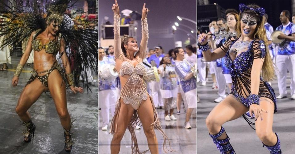 Dos ensaios ao desfile: Livia Andrade sempre esteve linda e com figurinos impecáveis. A madrinha da Império de Casa Verde sempre frisa seu amor pelo Carnaval