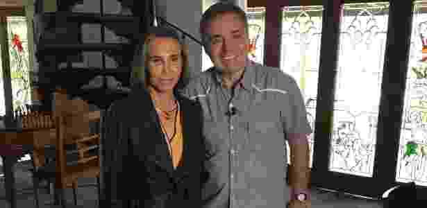 Gugu entrevista Florinza Meza em Cancún, no México - Divulgação/TV Record
