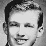 Donald Trump em foto da época em que serviu a escola militar - Reprodução/ Facebook