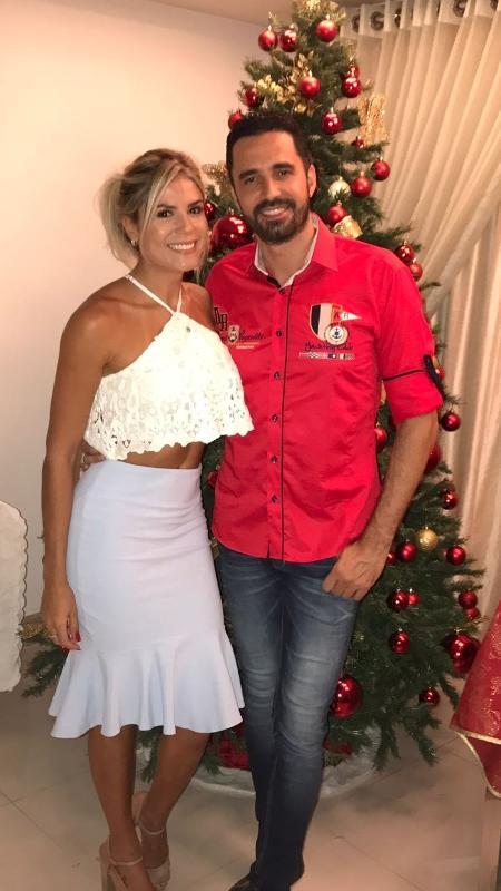 Latino e Fabiana Araujo passaram o Natal juntos - Divulgação / MF Assessoria