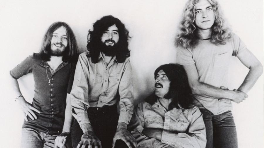 A banda Led Zeppelin - Reprodução