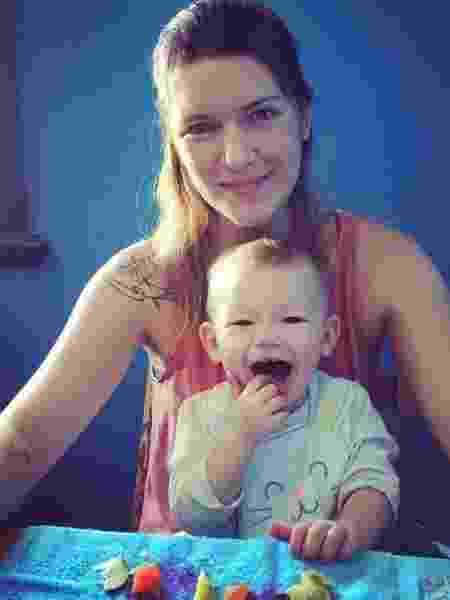 Caroline Rodrigues Szulczewski, 34, é vegana e mãe do Romeo, de 2 anos e 7 meses - Arquivo Pessoal - Arquivo Pessoal