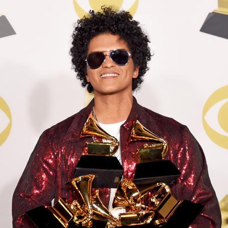 Bruno Mars, o grande vencedor da noite da 60ª edição do Grammy - Getty Images