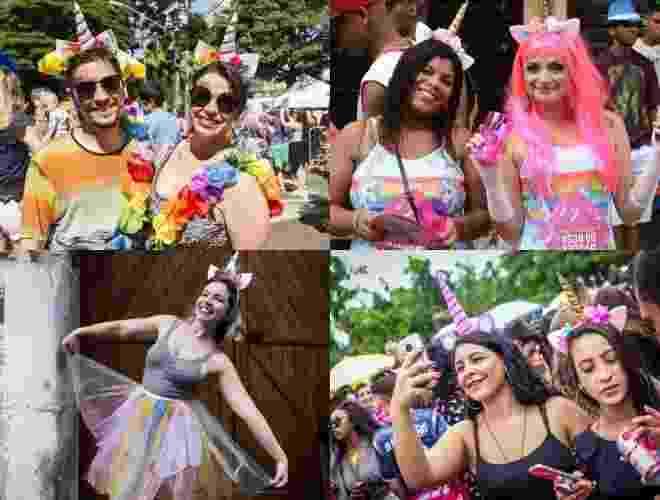 Esse animal colorido e mitológico encantou as ruas ano passado. Mas o que ninguém sabia é que eles viriam em número bem maior para o Carnaval de 2018 - Montagem/UOL