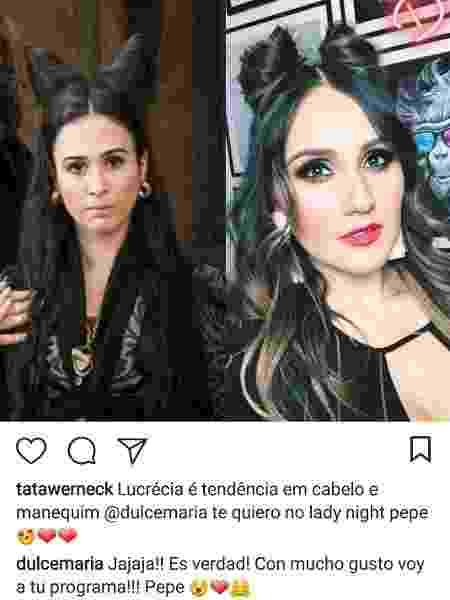 Reprodução/Instagram/tatawerneck