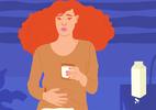 Intolerância à lactose pode causar gases em excesso, cólicas e diarreia - Camila Rosa/VivaBem