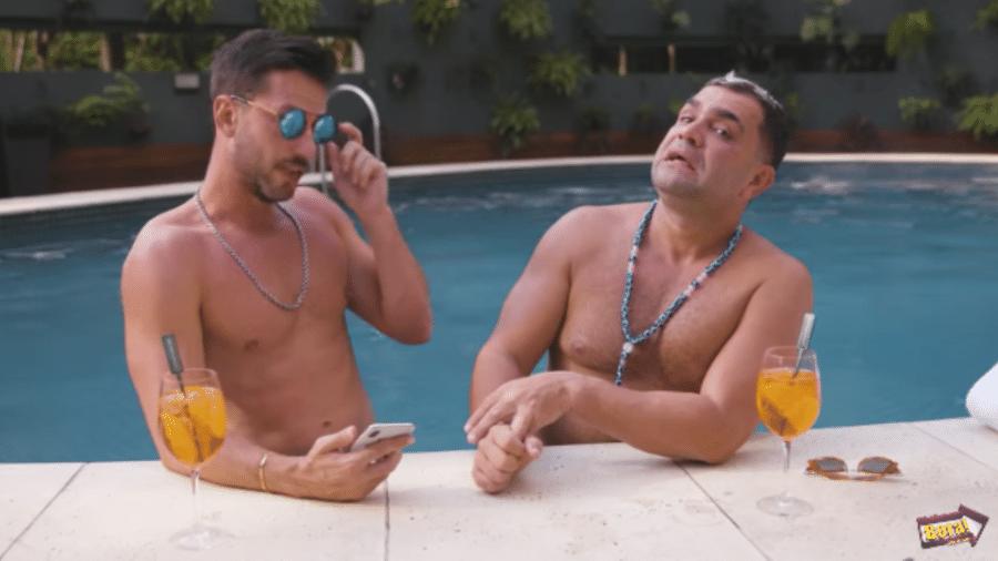 Caio Fischer entrevista Evandro Santo - Reprodução/Instagram