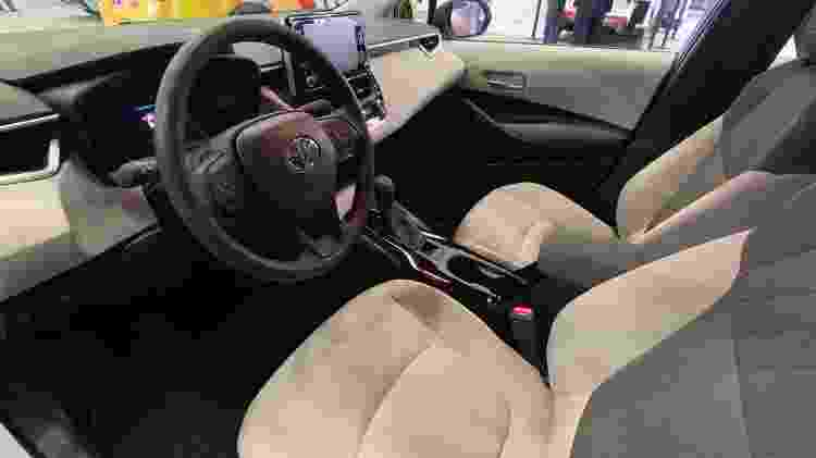 Toyota Corolla Hybrid 2019 EUA interior - Jorge Moraes/UOL - Jorge Moraes/UOL