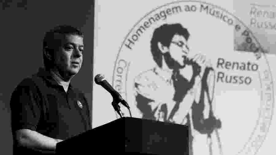 O fotógrafo Ricardo Junqueira durante lançamento do selo do Renato Russo no MIS, em São Paulo - Divulgação