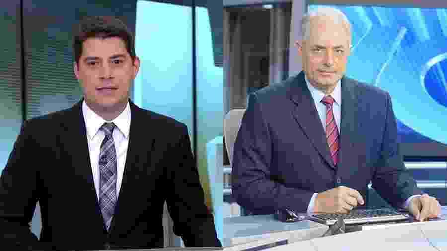 Evaristo Costa e William Waack já estão contratados pela CNN Brasil  - Reprodução/Globo