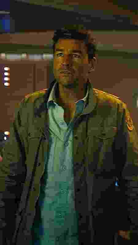 """O ator Kyle Chandler em """"Godzilla 2 - O Rei dos Monstros"""" - Divulgação"""