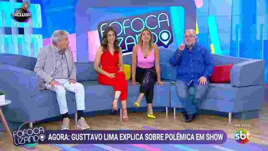 """Elenco de uma das temporadas do """"Fofocalizando"""": Silvio quer a volta de Décio e Leão Lobo ao formato após a pandemia - Reprodução/SBT"""