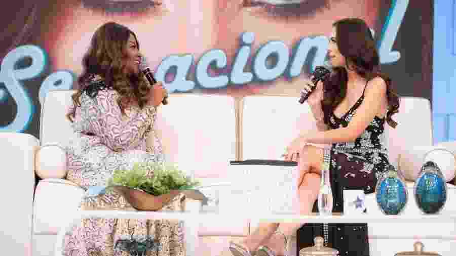 Vanessa Jackson em entrevista à Daniela Albuquerque, no programa Sensacional - Divulgação/RedeTV!