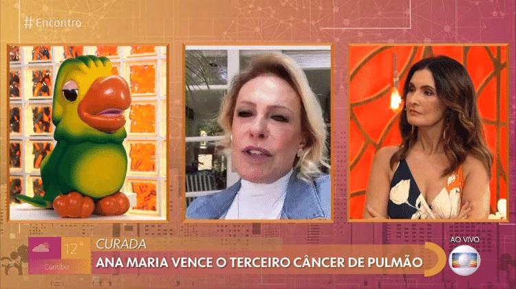 Ana Maria Braga conta que está curada no 'Encontro com Fátima Bernardes' - Reprodução/Globoplay - Reprodução/Globoplay