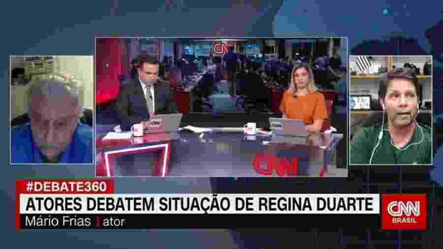 """Em debate com Fúlvio Stefanini, Mario Frias se disse pronto para ocupar cargo no governo: """"Pro Jair, o que ele precisar, eu tô aqui"""" - Reprodução"""