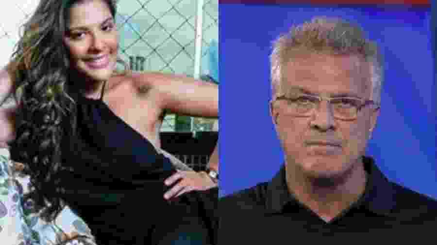 Gyselle Soares e Pedro Bial - Reprodução/Tv Globo