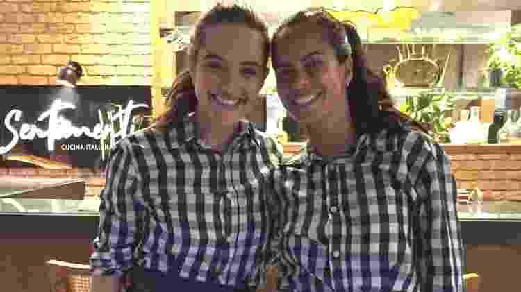 Juliana Paiva e Marianne Bastos nos bastidores de 'Salve-se Quem Puder' - Arquivo pessoal - Arquivo pessoal