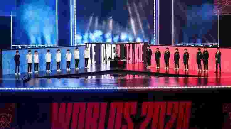 Mundial LoL 2020 Final apresentação das equipes - Divulgação/Riot Games - Divulgação/Riot Games