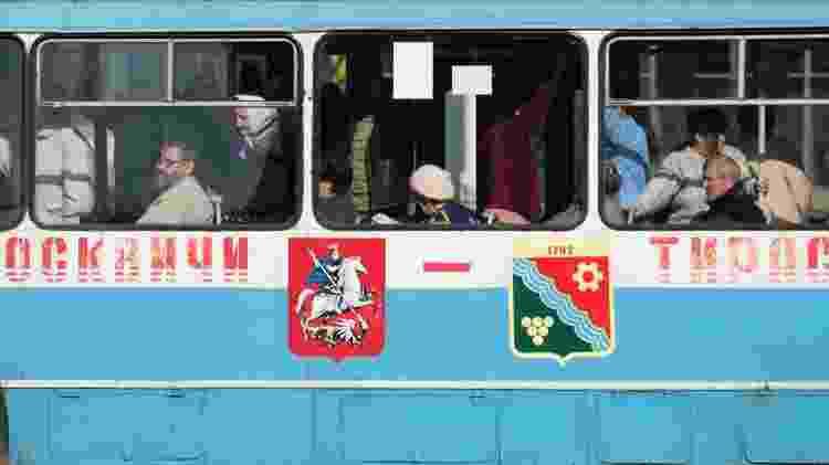 Ônibus lotado em Tiraspol, na Transdnístria - Getty Images - Getty Images