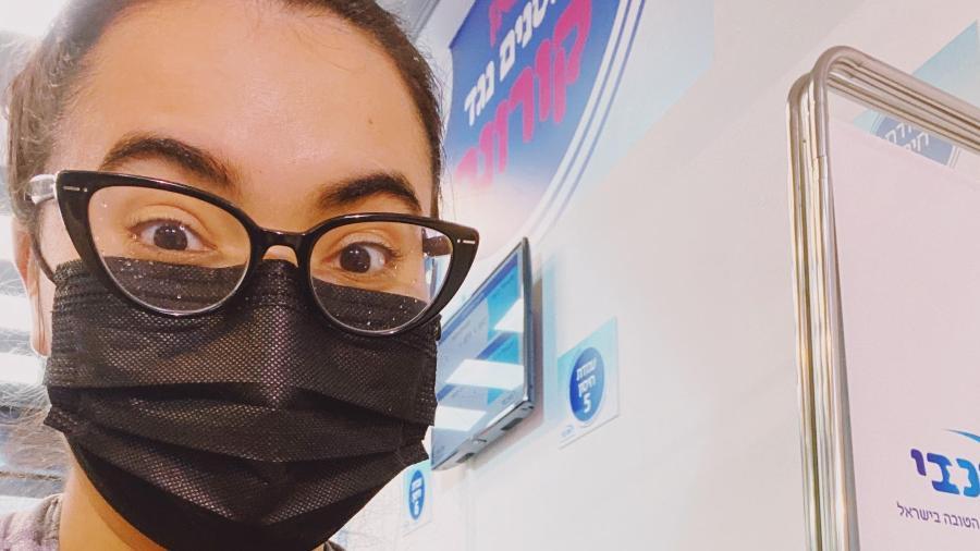 Hannah Hebron, 29, tomou a primeira dose da vacina em janeiro de 2021 - Arquivo pessoal