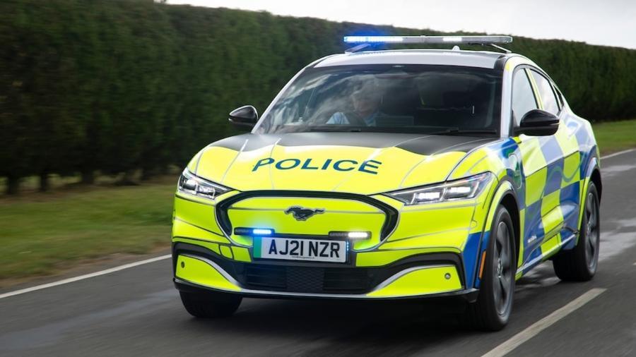 Mustang Mach-E protótipo como viatura de polícia - Divulgação