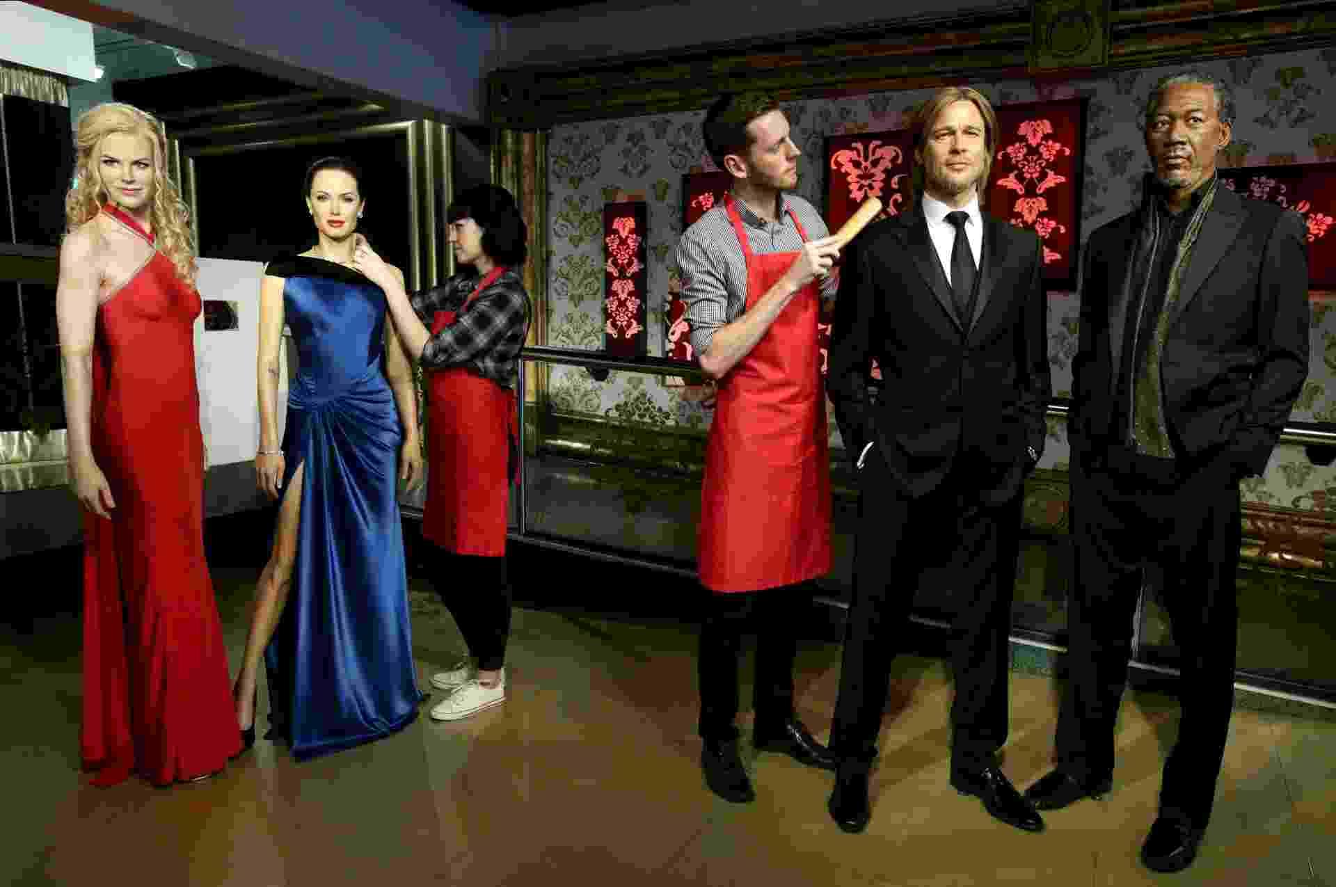 21.set.2016 - Museu Madame Tussauds de Londres separou as estátuas de Brad Pitt e Angelina Jolie - undefined