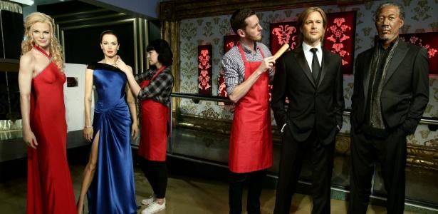 Angelina e Brad foram separados no museu - ZUMAPRESS