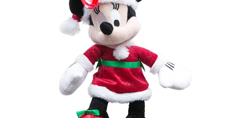 Personagens Disney mantêm o prestígio até no Natal. A Cecilia Dale (www.ceciliadale.com.br) aposta na Minnie de pelúcia (15 cm x 30 cm) para agregar um toque de fofura ao pinheirinho. O preço? R$ 249