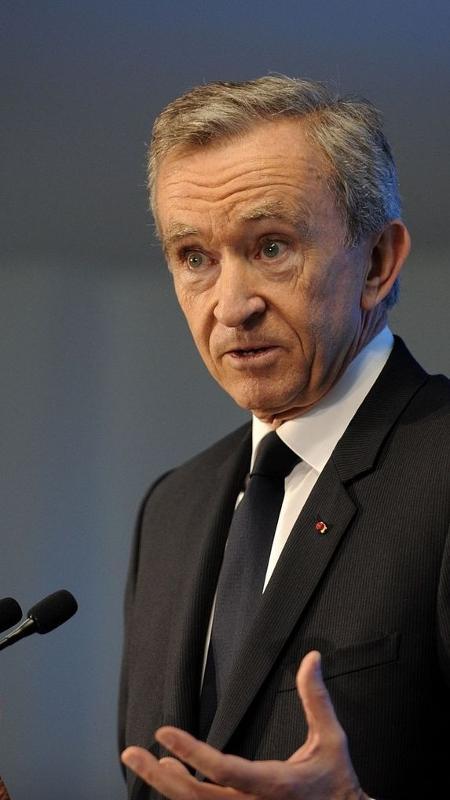 O magnata francês Bernard Arnault - Guillaume Souvant/Getty Images
