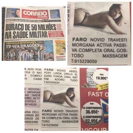 Fani Pacheco divulga anúncio de travesti usando foto dela no jornal português Correio da Manhã - Reprodução/Instagram/fanipacheco