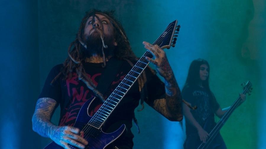 """O guitarrista Brian """"Head"""" Welch, tocou no Brasil em abril com o Korn - Francisco Cepeda/AgNews"""
