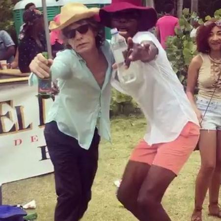 Mick Jagger se diverte no Caribe - Reprodução/Instagram/@mickjagger