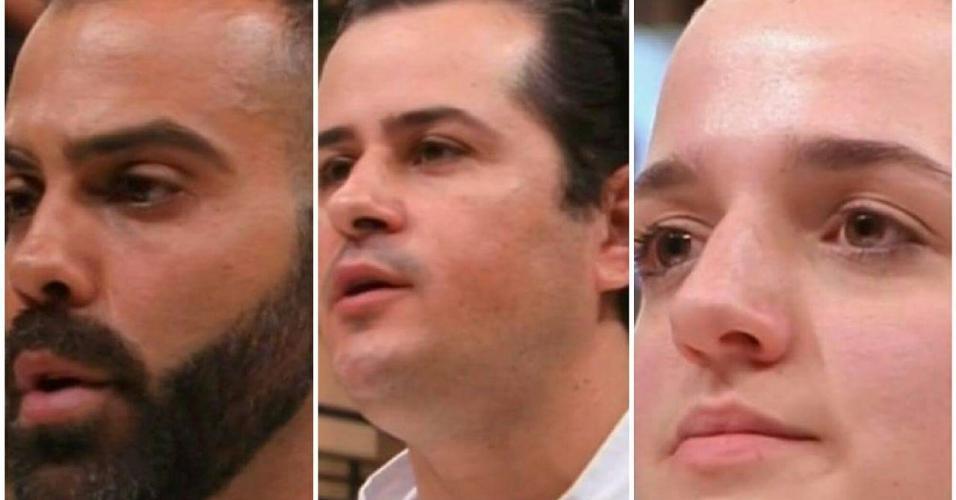 """Pedro Pecego, Edney Moreira e Bárbara Cardin foram os três primeiros eliminados do """"MasterChef - Profissionais"""""""