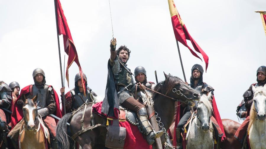 """A batalha de Artena e Montemor exibida em quatro capítulos  foi uma super produção da equipe de """"Deus Salve o Rei"""" - Divulgação/TV Globo"""