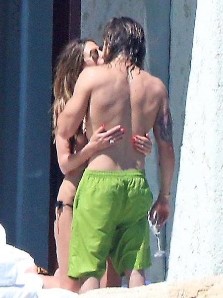 Heidi Klum e Tom Kaulitz no México - Reprodução/Daily Mail