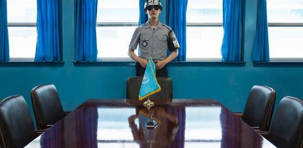 A área que separa as duas Coreias é altamente militarizada
