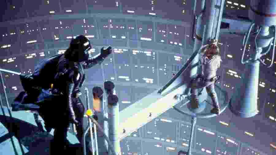 """Mark Hamill e David Prowse em """"Star Wars: O Império Contra-Ataca"""" (1980) - Divulgação"""