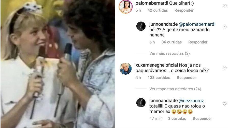 Junno lembra clique antigo com Xuxa - Reprodução/Instagram