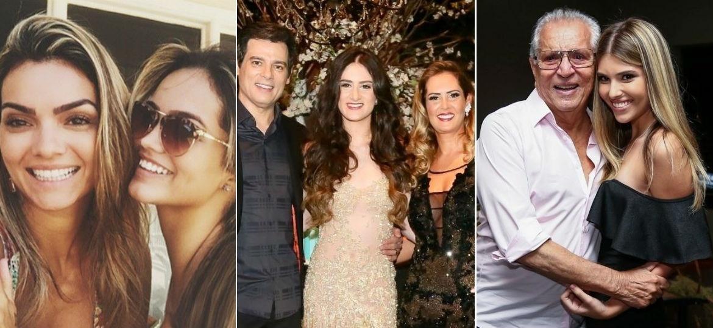 Famosos com suas filhas, que completam 18 anos em 2018 - Fotomontagem/Brazil News/Instagram