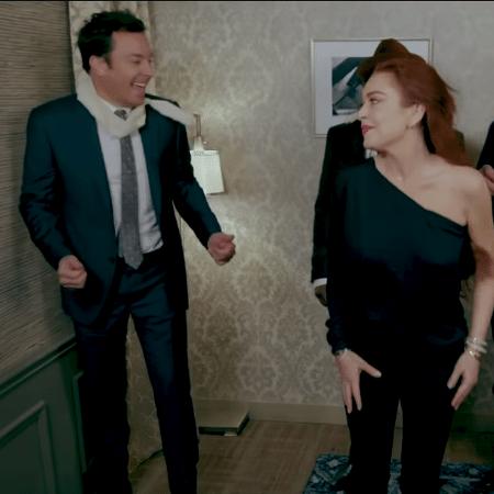 Lindsay Lohan participou de esquete de Jimmy Fallon - Reprodução