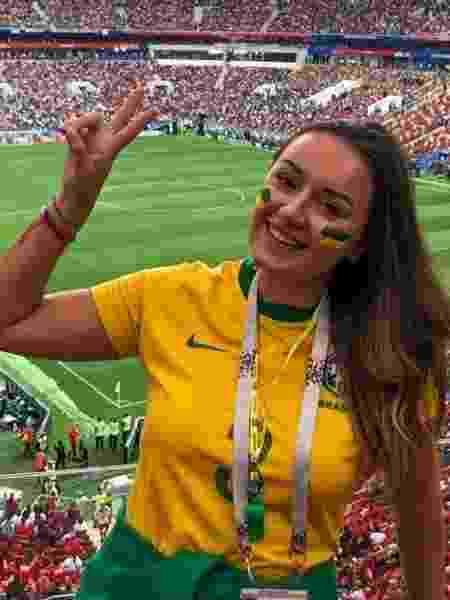 Luiza na Copa da Rússia - Arquivo pessoal - Arquivo pessoal