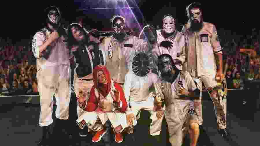 A banda Slipknot após show em Iowa - Reprodução/Instagram