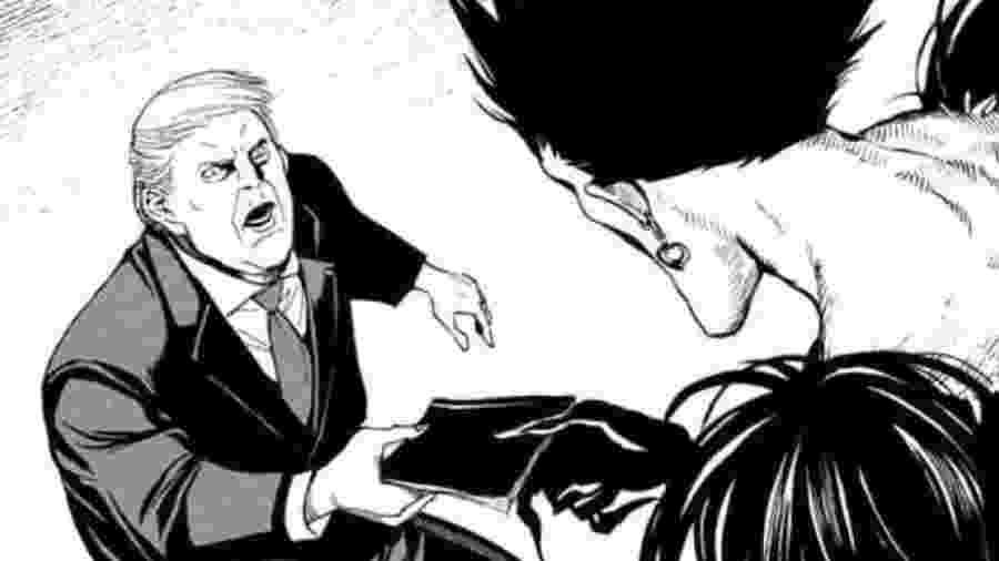 Donald Trump no novo mangá de Death Note - Reprodução