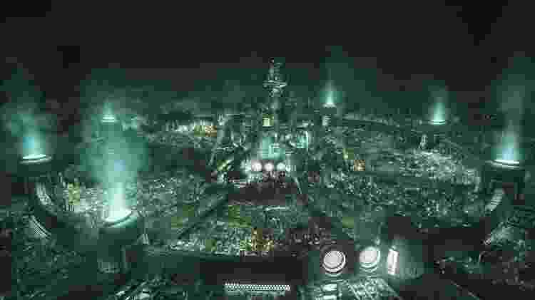 FF VII Remake Midgar - Divulgação/Square Enix - Divulgação/Square Enix