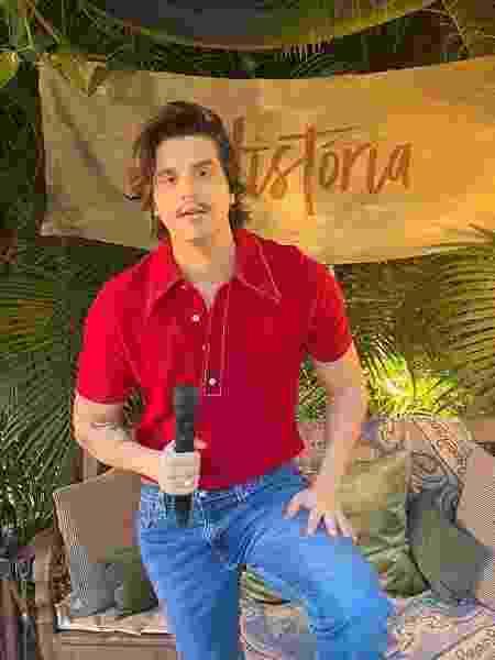 Luan Santana arrecadou cerca de 400 toneladas de alimentos durante a sua primeira live - Divulgação