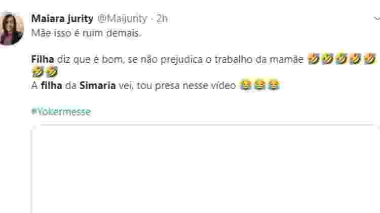 Simaria fikha twitter - Reprodução/Twitter - Reprodução/Twitter