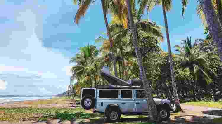 Acampando durante a quarentena na Playa Bejuco, na Costa Rica - Arquivo pessoal - Arquivo pessoal