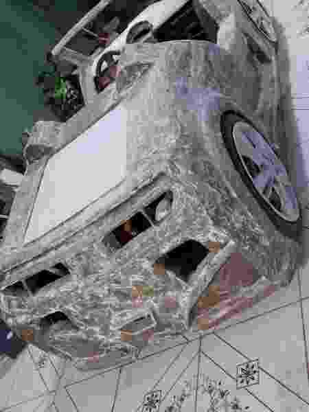 Lavador de carros constrói mini buggys de papelão - Arquivo Pessoal - Arquivo Pessoal